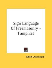 Cover of: Sign Language Of Freemasonry - Pamphlet