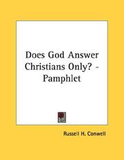 Cover of: Does God Answer Christians Only? - Pamphlet