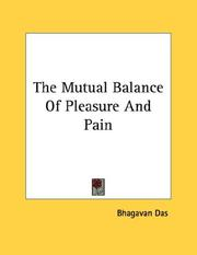 Cover of: The Mutual Balance Of Pleasure And Pain
