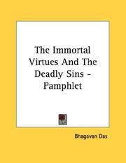 Cover of: The Immortal Virtues And The Deadly Sins - Pamphlet