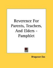Cover of: Reverence For Parents, Teachers, And Elders - Pamphlet