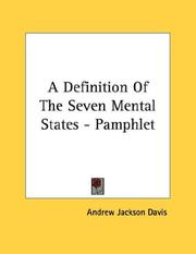 Cover of: A Definition Of The Seven Mental States - Pamphlet