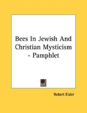 Cover of: Bees In Jewish And Christian Mysticism - Pamphlet
