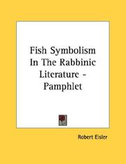 Cover of: Fish Symbolism In The Rabbinic Literature - Pamphlet