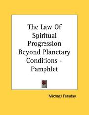 Cover of: The Law Of Spiritual Progression Beyond Planetary Conditions - Pamphlet