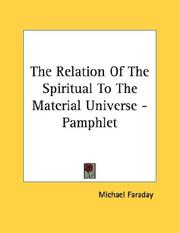 Cover of: The Relation Of The Spiritual To The Material Universe - Pamphlet