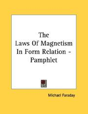 Cover of: The Laws Of Magnetism In Form Relation - Pamphlet