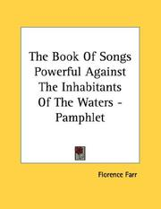 Cover of: The Book Of Songs Powerful Against The Inhabitants Of The Waters - Pamphlet