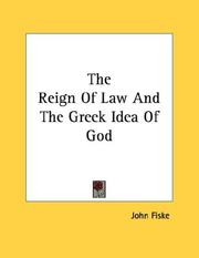 Cover of: The Reign Of Law And The Greek Idea Of God