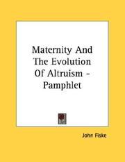 Cover of: Maternity And The Evolution Of Altruism - Pamphlet