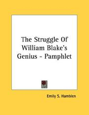 Cover of: The Struggle Of William Blake