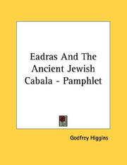 Cover of: Eadras And The Ancient Jewish Cabala - Pamphlet