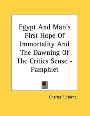 Cover of: Egypt And Man