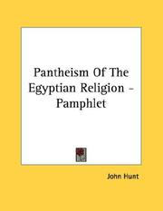 Cover of: Pantheism Of The Egyptian Religion - Pamphlet