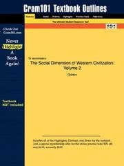 Cover of: Outlines & Highlights for The Social Dimension of Western Civilization: Volume 2 by Golden, ISBN | Cram101 Textbook Reviews
