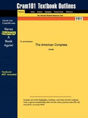 Cover of: Outlines & Highlights for The American Congress by Smith, ISBN | Cram101 Textbook Reviews