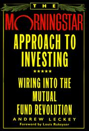 Cover of: The Morningstar approach to investing