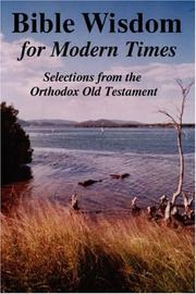 Cover of: BIBLE WISDOM FOR MODERN TIMES