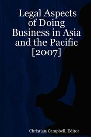 Cover of: Legal Aspects of Doing Business in Asia and the Pacific