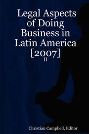 Cover of: Legal Aspects of Doing Business in Latin America [2007] - II