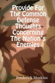 Cover of: Provide For The Common Defense | Frederick Meekins