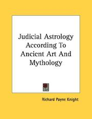 Cover of: Judicial Astrology According To Ancient Art And Mythology