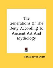 Cover of: The Generations Of The Deity According To Ancient Art And Mythology