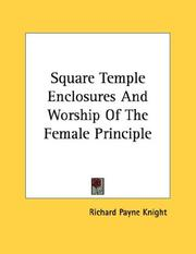 Cover of: Square Temple Enclosures And Worship Of The Female Principle