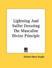 Cover of: Lightning And Sulfur Denoting The Masculine Divine Principle