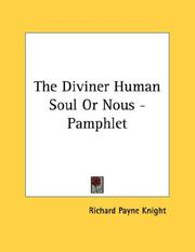 Cover of: The Diviner Human Soul Or Nous - Pamphlet