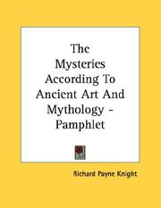 Cover of: The Mysteries According To Ancient Art And Mythology - Pamphlet