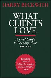 Cover of: What Clients Love