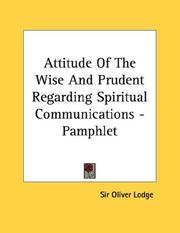 Cover of: Attitude Of The Wise And Prudent Regarding Spiritual Communications - Pamphlet