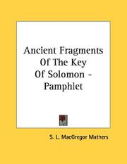 Cover of: Ancient Fragments Of The Key Of Solomon - Pamphlet