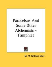 Cover of: Paracelsus And Some Other Alchemists - Pamphlet