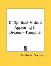 Cover of: Of Spiritual Visions Appearing In Dreams - Pamphlet