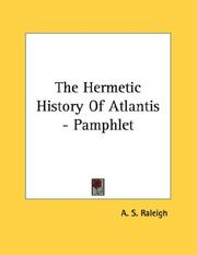 Cover of: The Hermetic History Of Atlantis - Pamphlet | A. S. Raleigh