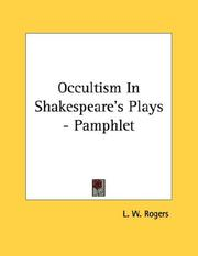 Cover of: Occultism In Shakespeare
