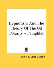 Hypnotism And The Theory Of The Od Polarity - Pamphlet