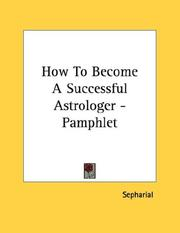 Cover of: How To Become A Successful Astrologer - Pamphlet