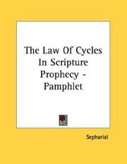 Cover of: The Law Of Cycles In Scripture Prophecy - Pamphlet
