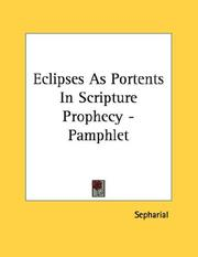 Cover of: Eclipses As Portents In Scripture Prophecy - Pamphlet