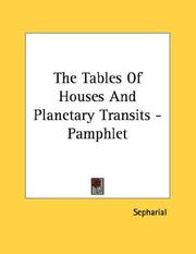 Cover of: The Tables Of Houses And Planetary Transits - Pamphlet
