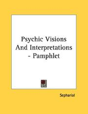 Cover of: Psychic Visions And Interpretations - Pamphlet