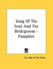 Cover of: Song Of The Soul And The Bridegroom - Pamphlet