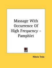 Cover of: Massage With Occurrence Of High Frequency - Pamphlet