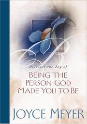 Cover of: Being the Person God Made You to Be