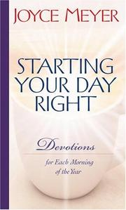 Cover of: Starting Your Day Right | Joyce Meyer
