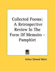 Cover of: Collected Poems | Arthur Edward Waite