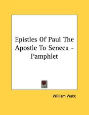 Cover of: Epistles Of Paul The Apostle To Seneca - Pamphlet